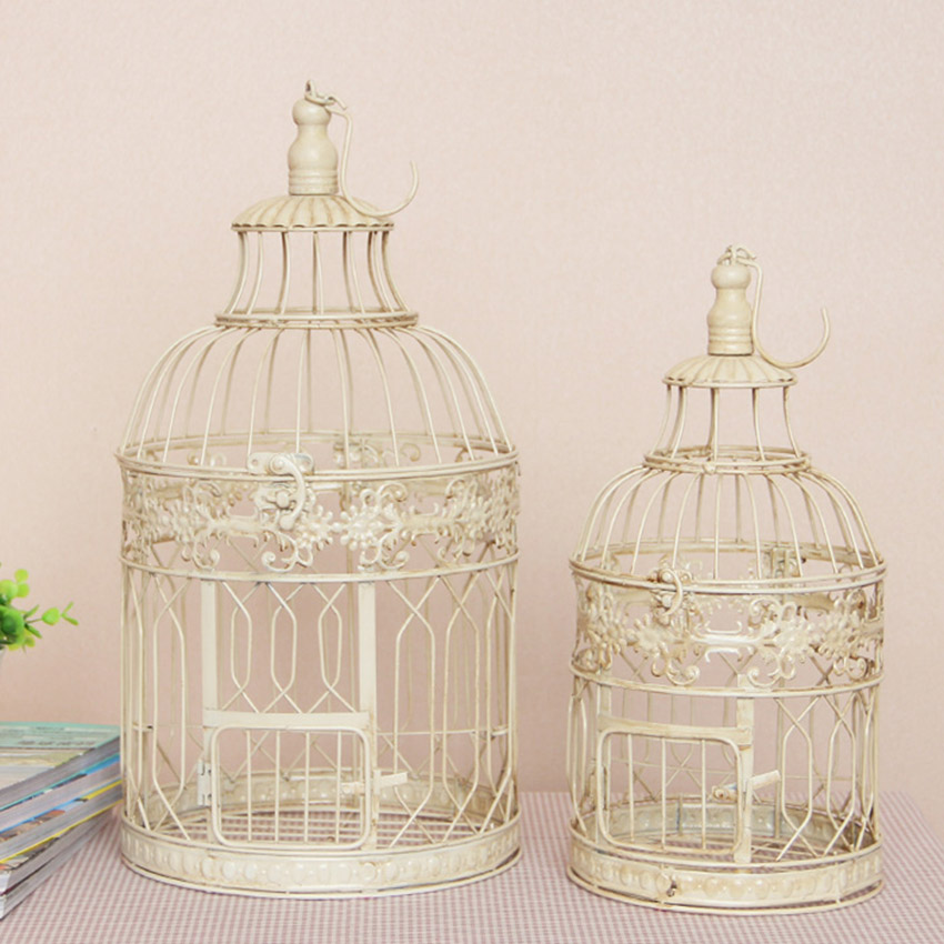 Popular large decorative birdcage buy cheap large for Cage d oiseau decorative