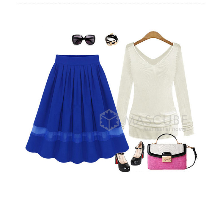 New 2015 Princess Women Skirts Spring Summer Skirt Casual Bright Color ...