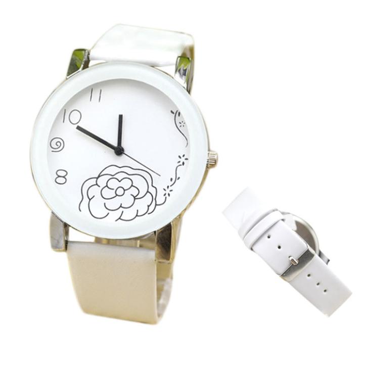 Hot Marketing Men And Women Of Flower Shaped Diamond Fashion Watch Strap Watch June8(China (Mainland))
