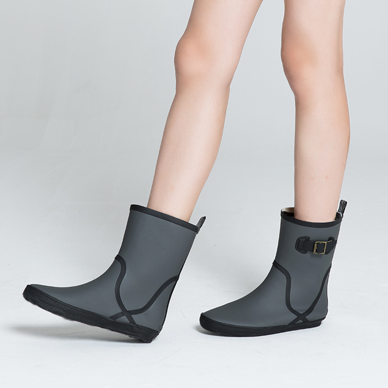 Fall/Winter Fashion Side Buckle Short Tube Non-slip Boots Rainshoes Women Shoes Students Current Low Water Rainboots Warm<br><br>Aliexpress