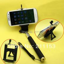50pcs/Lot Universal Tripod / Monopod Desktop Clip Mount Stand Holder for iPhone5s Samsung HTC Nokia Lenovo MIUI Smartphone(China (Mainland))