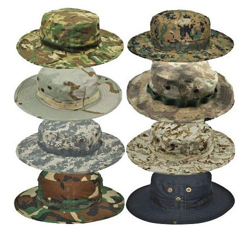 Outdoor Sports Tactical Airsoft Headwear Sniper Boonie Hats Round-brimmed Sun Bonnet Camping Fishing Hiking Travel Bucket Cap(China (Mainland))