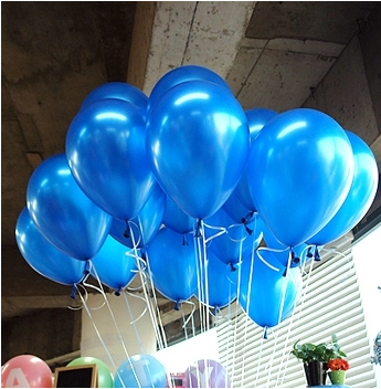 Sky blue balloon 100pcs/lot 1.2g 10 Inch Pearl Helium wedding Decorations Metallic Ball Baby toy Latex ballon(China (Mainland))