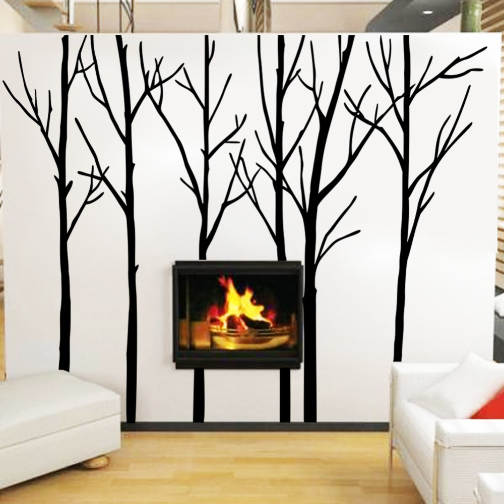 Cozy Homy Winter Tree Wall Decal Forest Vinyl Wall Art