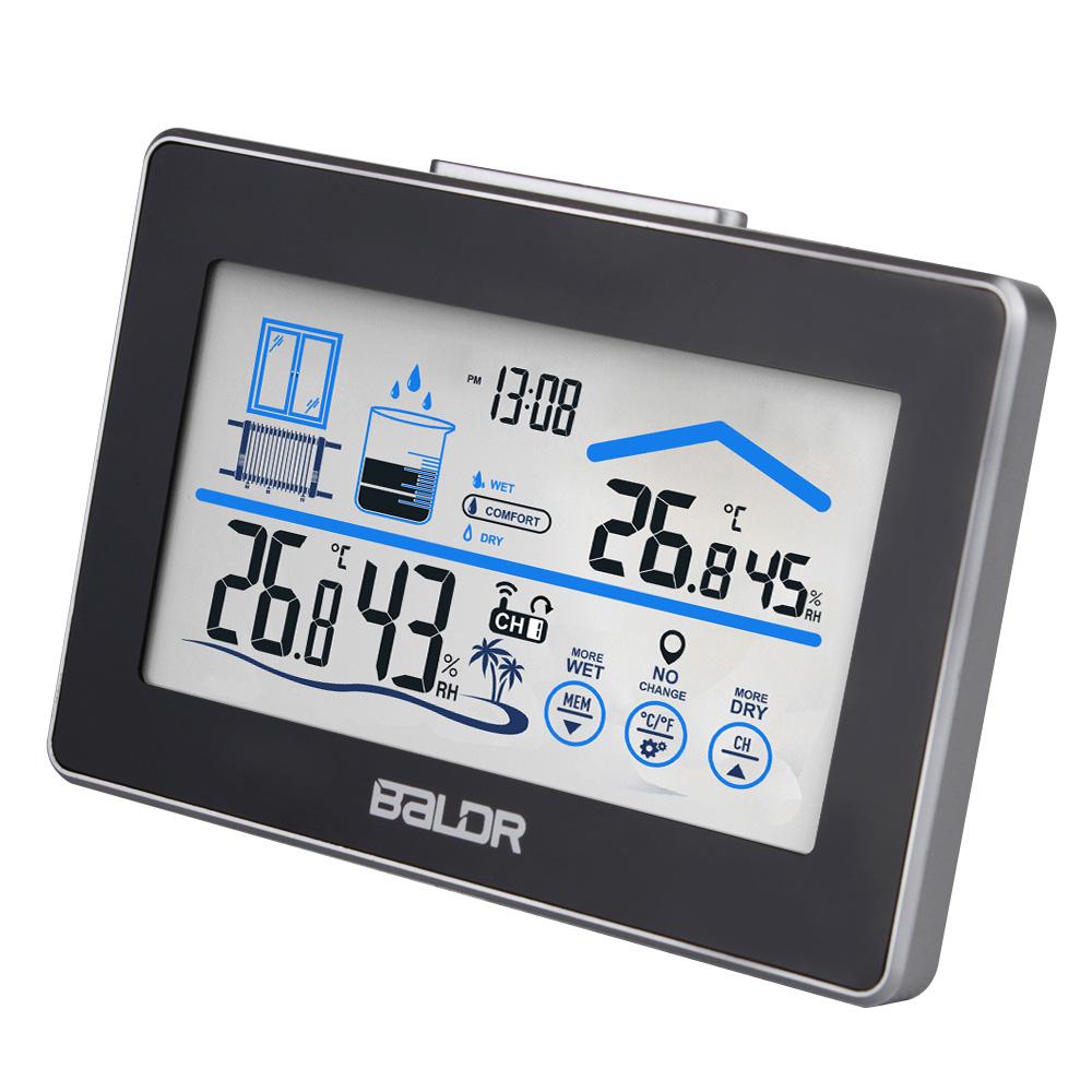 Digital Thermometer Hygrometer Wireless Weather Station Clock Temperature Humidity Alert LCD Display(China (Mainland))