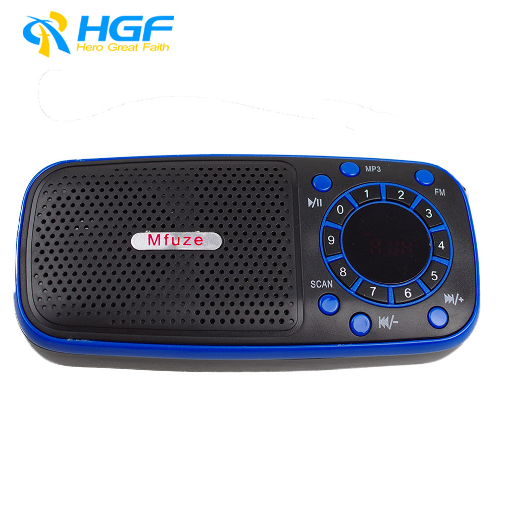 2014 NEW FM Digital Portabel Radio Support MP3 TF Card USB Disk 3.5MM Line In/ Super Bass - HGF ELECTRONICS store