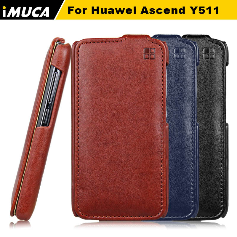 flip case Huawei ascend y511 leather cover phone accessories vertical cases huawei cell bag - IMUCA flagship store