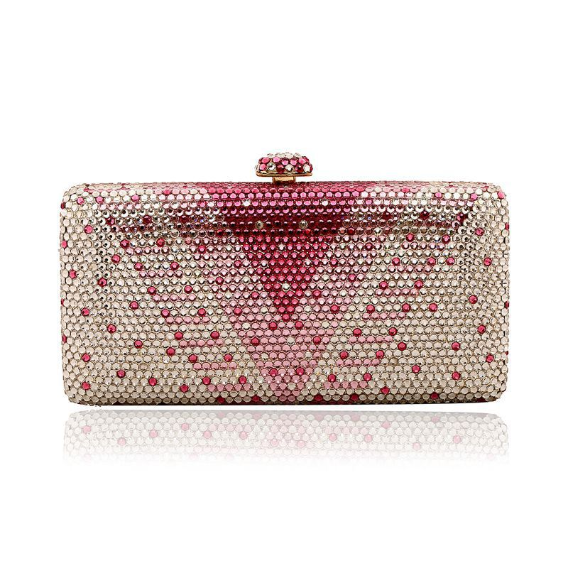 Full Rhinestone Wedding Bridal Evening Clutches crystal handcrafted luxury box purse Clutch evening bags Clutch bag for party21(China (Mainland))