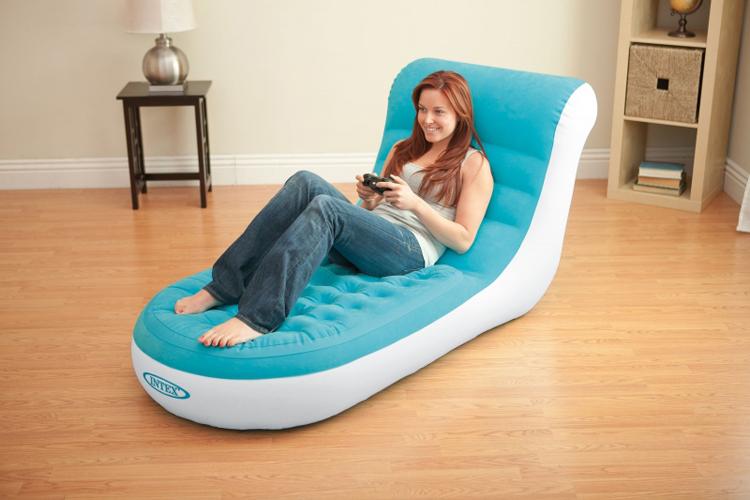 Luxury flocking A single chair inflatable sofa Recreational sofa chair(China (Mainland))