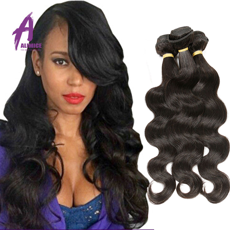 7A Virgin Indian Human Hair Body Wave Hair Extention Cheap Human Hair 4 Bundles 100G Bundles Alimice Hair Factory Directly Sale<br><br>Aliexpress