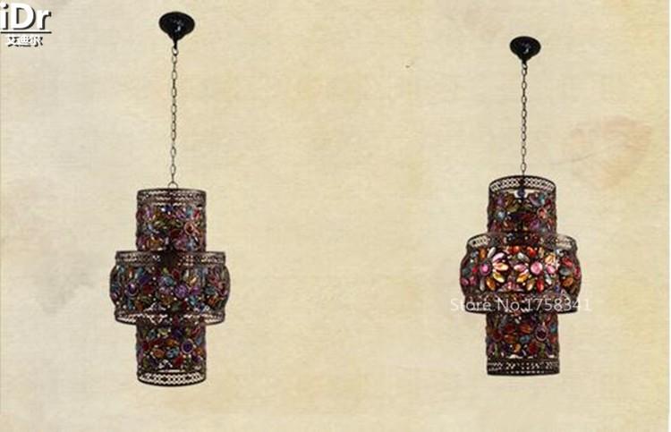 Купить Экзотический стиль ретро ночной клуб приспособление Западная Кафе-Бар вход Искусство Света Подвесные Светильники wwy-0412