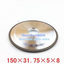 Lijadora 100% concentración de carburo de tungsteno de acero ranurado diamante muela rueda especificaciones 150 * 31.75 * 5 * 8