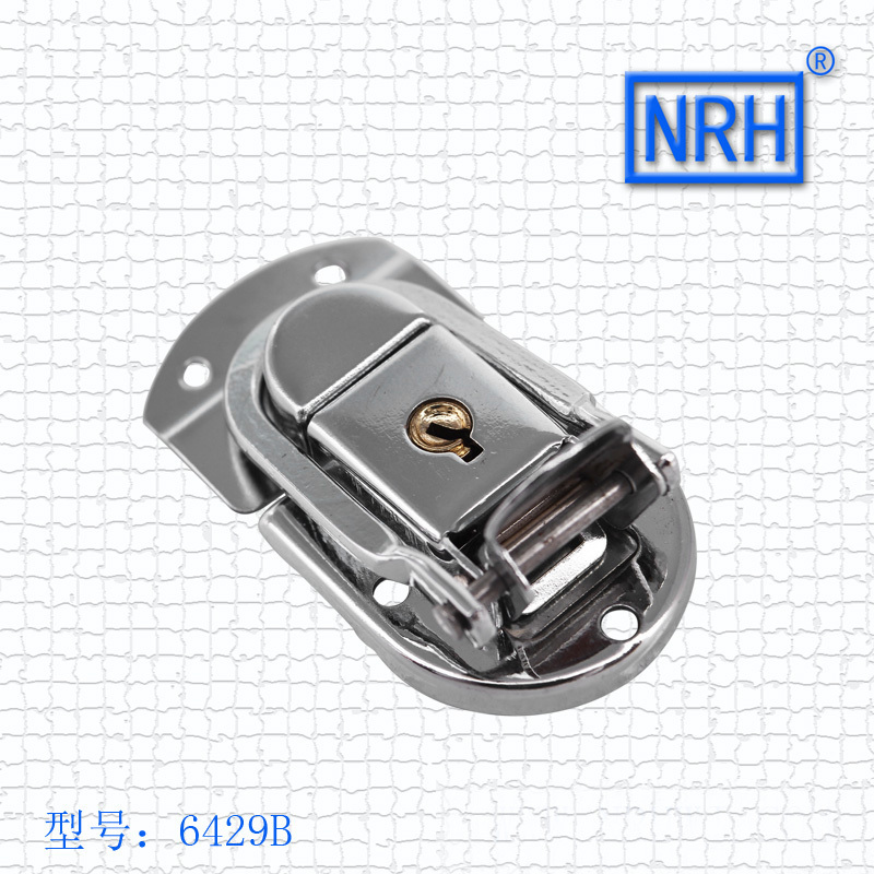 NRH 6429B steel chrome finish locking fastener toggle draw latch for briefcase & suitcase 2pack toggle latch wholesale price(China (Mainland))