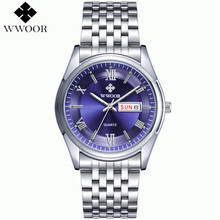 2015 New Brand Men's Watch Date Day 3ATM Waterproof Relojes Stainless Full Steel Dress Men Sports Quartz Watch Casual Wristwatch