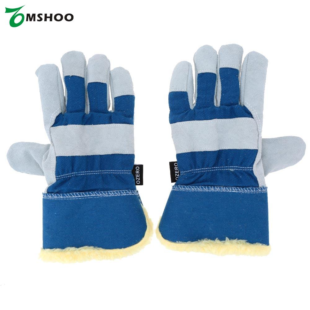 Leather work gloves china - 2pcs Windproof Winter Outdoor Gloves Men Women Tacticos Thermal Working Leather Warm Fitness Full Finger Ciclismo