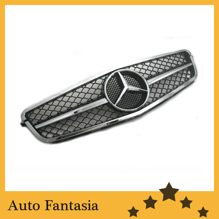 Facelifted Style Single Slate Full Chrome Replacement Grill for Mercedes Benz W204 C Class Coupe Version(China (Mainland))