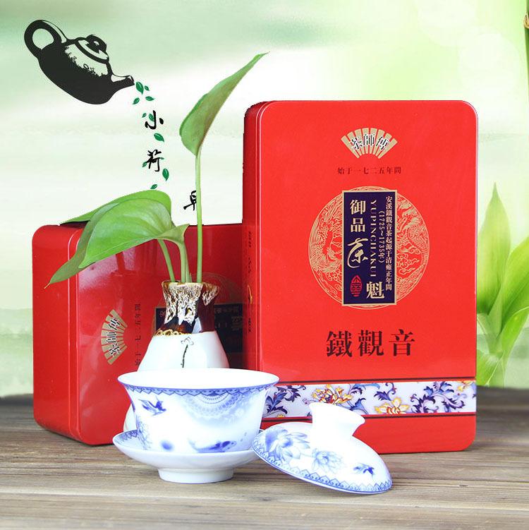 Oolong Tea 250g Beauty And health Vacuum Chinese Anxi Tie Guan Yin Food Tin Box Packaging Homemade Oolong Tea(China (Mainland))