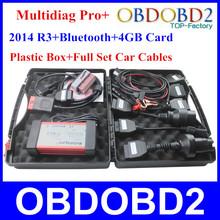 Professional Multidiag Pro+Diagnostic Tool V2014.3 + Bluetooth + 4GB TF Card + Full Car Cables Plus TCS CDP Pro+(China (Mainland))