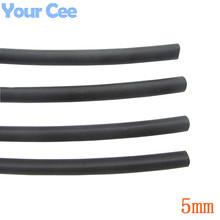 5m Heat Shrink Insulation Sleeving Heatshrink Tubing 600 Voltage 125 Celsius Black Tube Wire Wrap Cable Kit Inner Diameter 5mm(China (Mainland))
