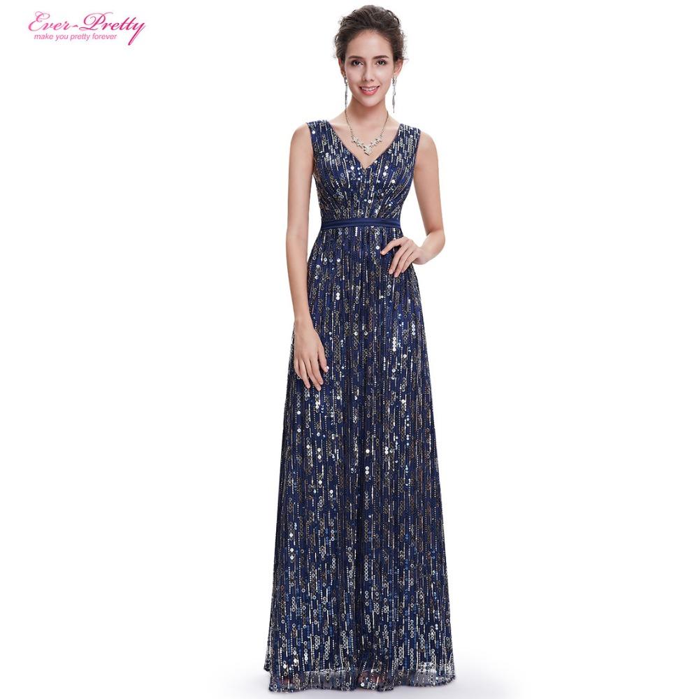 Evening dresses ever pretty ep08669nb women elegant for Navy evening dresses for weddings
