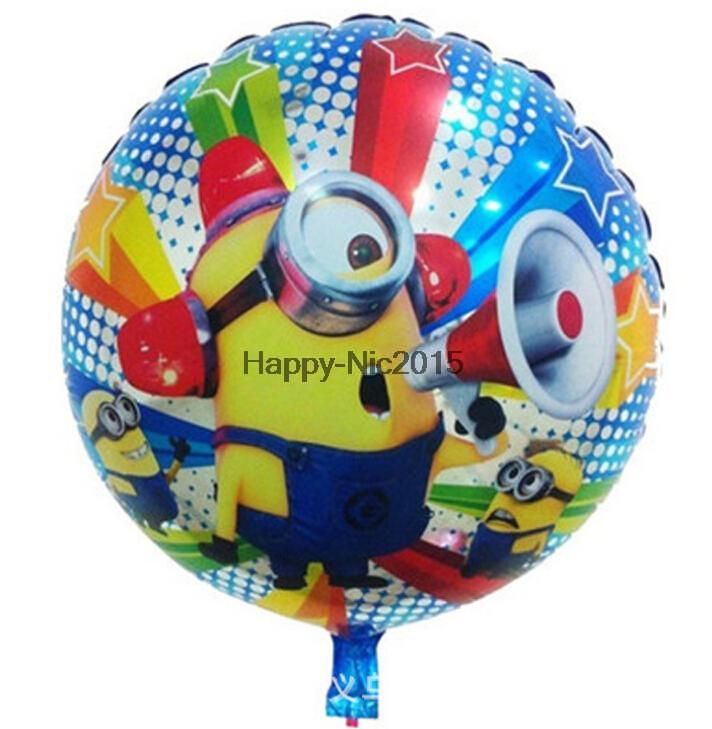 10pcs 45*45cm despicable me party balloon balloons minions inflatable balloon baloes minnie for festa infantil birthday party(China (Mainland))