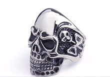 free shipping fashion jewelry personality skull ring titanium Stainless steel men's domineering Gothic cool man accessories