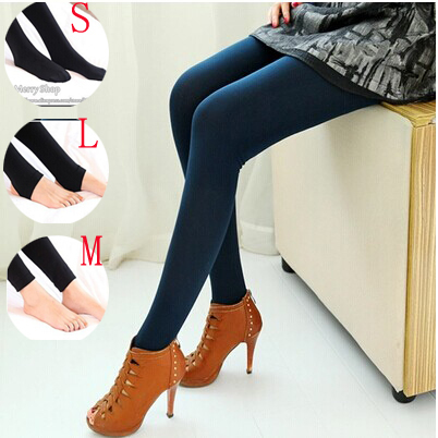 2014 new large size women's outer wear high waist warm autumn paragraph feet thick velvet leggings (3 styles)free shipping(China (Mainland))