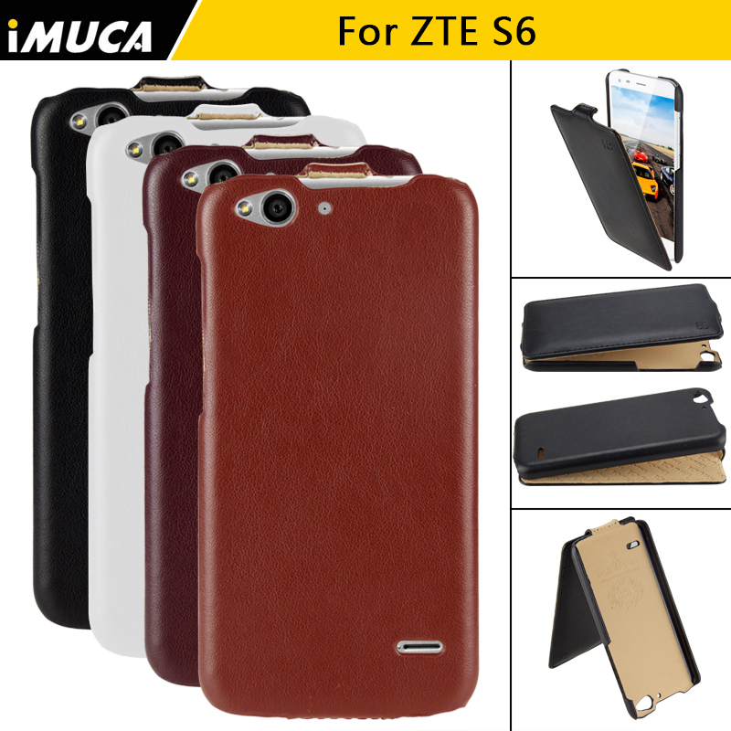 ZTE Blade S6 Case for ZTE Blade S6 Back Cover IMUCA Flip Leather Cases Capa for ZTE Blade S6 Fundas Mobile Phone Bags & Cases(China (Mainland))