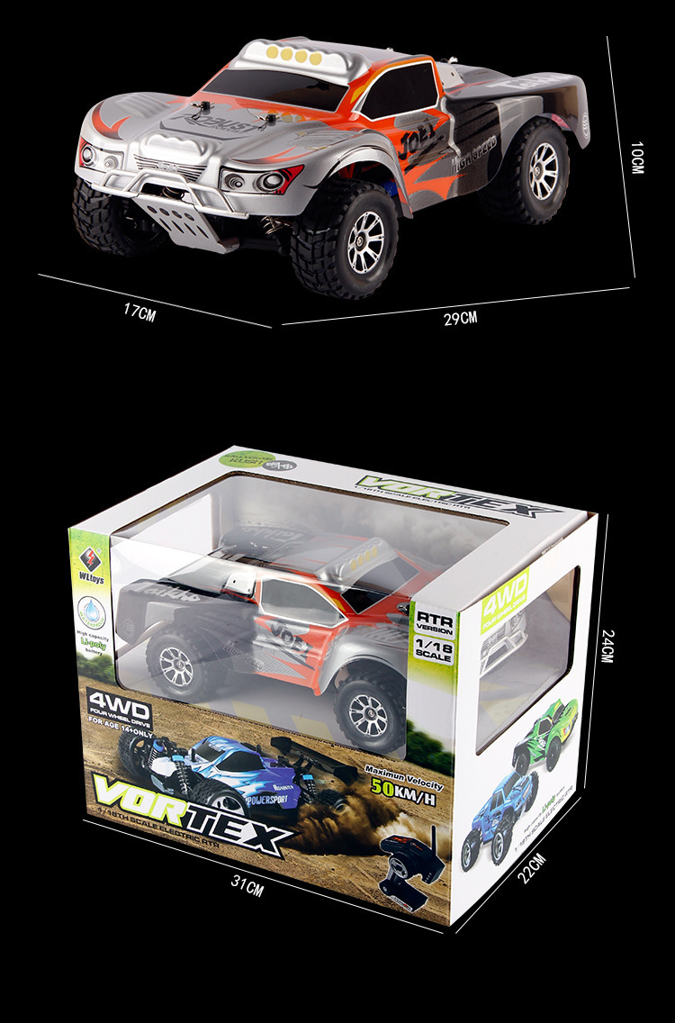 Wltoys K929 1:18 4wd Rc Car Off Road Buggy Mountain Bike 2.4g Radio Control Model Toys A40201360(China (Mainland))