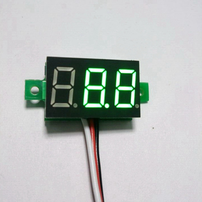 5PCS/LOT green led digital display auto voltmeter DC 0-100V digital voltage volt meter gauge car battery monitors B0008-5<br><br>Aliexpress