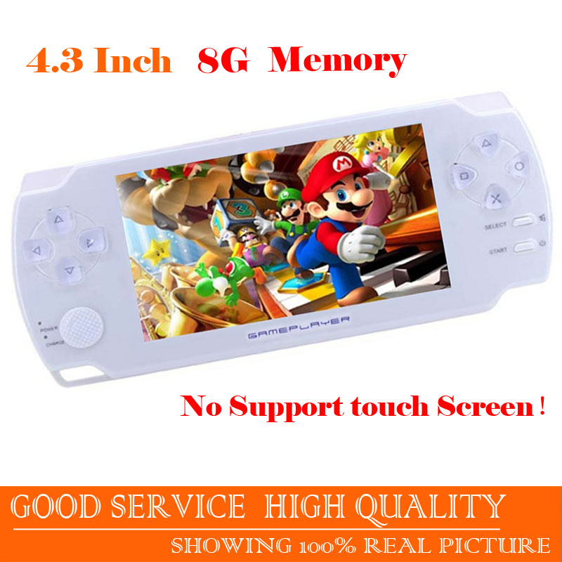 Free shipping High Quality 4.3 Inch Ultra-Thin 8G Built In Memory Handheld Game player MP5 Music Player play 9000+ games console(China (Mainland))