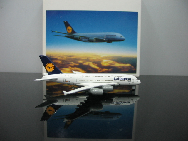 Out of print Herpa 1:1000 Lufthansa Airbus A380-800 D-AIMA Alloy plane model Collection model(China (Mainland))