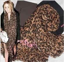 2016 Leopard scarf Cotton Linen high quality women's stole,brand designer scarf(China (Mainland))