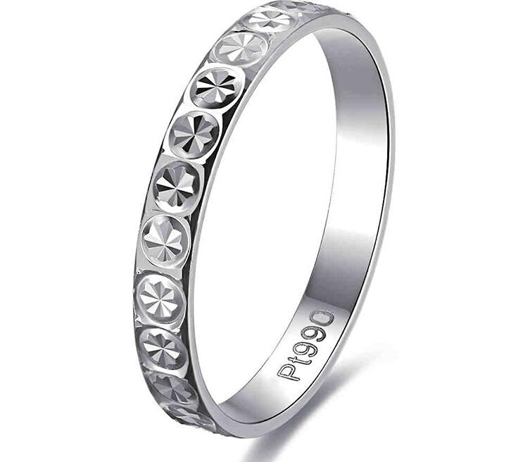 Pure Platinum 950 Full Star Ring Band Stamp Pt950(China (Mainland))
