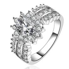 925 серебряные кольца для женщин ювелирные изделия стерлингового серебра с естественным каменный цветок кристалл властелин колец мода изящных ювелирных изделий r584(China (Mainland))