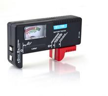 Caliente! AA AAA cd 9 V Universal botón de la célula de la batería Volt Tester Checker 9 V