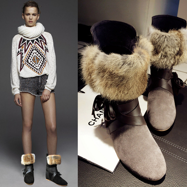 2015 Winter Newest Leather Stitching Increased Wedges Warm Feathers Fashion Lace Ankle Women Boots Match Snow Boots Shoes Woman<br><br>Aliexpress
