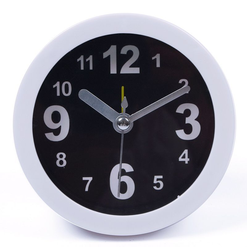 Cute Family Portable Vogue Round Small Table Desktop Alarm Solid Color Simple Clock #66581(China (Mainland))