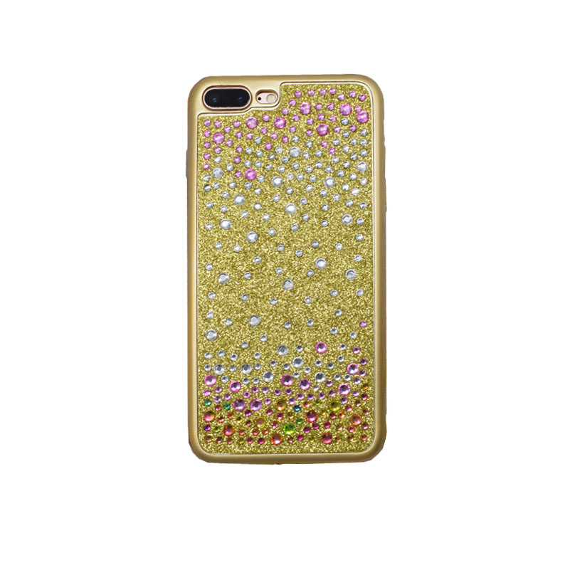 Diamond Crystal Design Cover Cell Phone Accessories for iPhone6 6s 7 Plus Pattern Phone Soft Shell Luxury Rhinestone Frame Cases(China (Mainland))