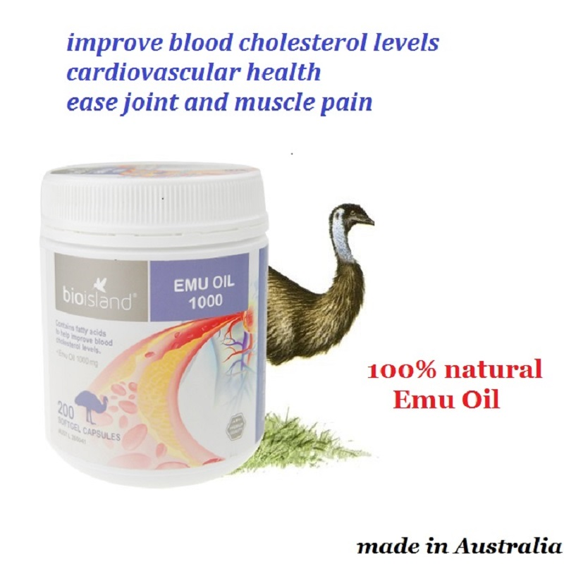 Australia dietary supplement Emu Oil Improve blood cholesterol levels Ease joint &muscle pain Reduce irritation & inflammation
