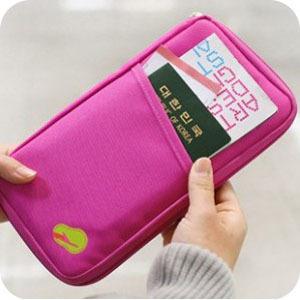 2015 New Colorful Travel Wallet Passport Ticket ID Credit Card Holder Cover Organiser Bags handbag Zip
