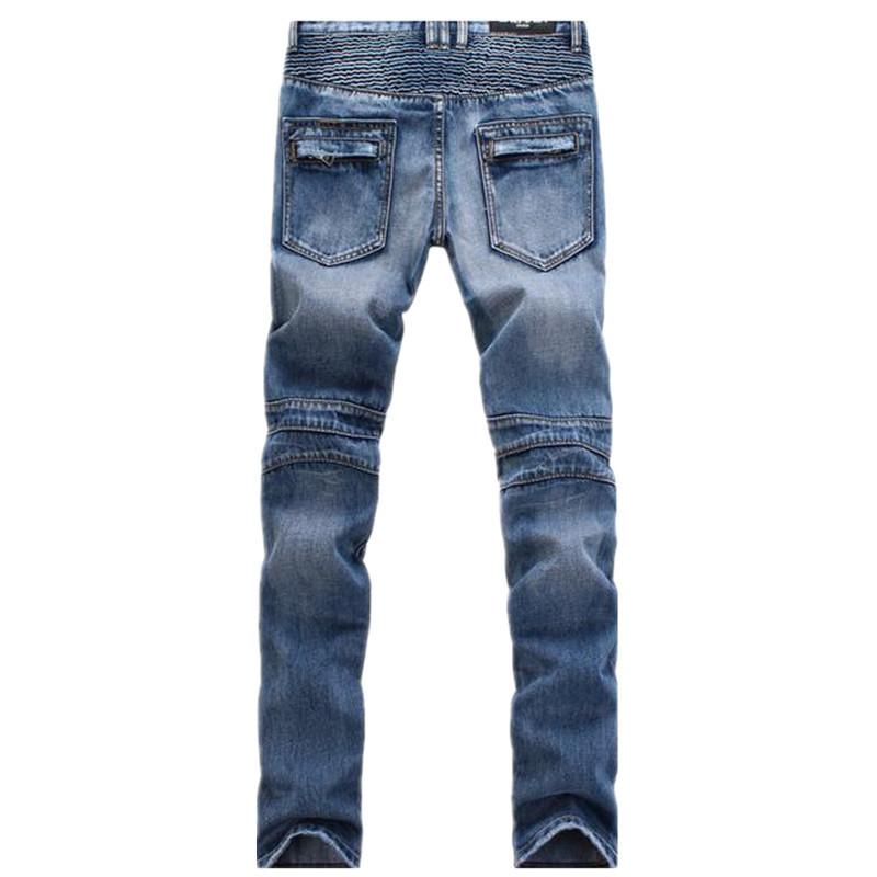 Fashion-Brand-Designer-Mens-Ripped-Biker-Jeans-Slim-Fit-Distressed-Moto-Denim-Joggers-Washed-Pleated-Jean