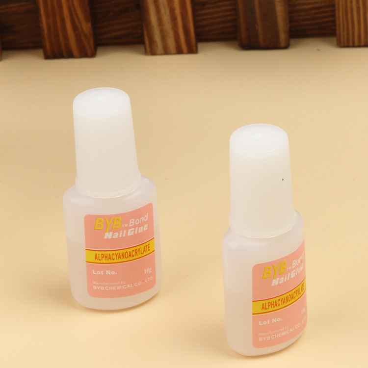 Nail Art Glue Tips Glitter Uv Acrylic Rhinestones Decoration With Brush Nail Glue Drop Shipping NA-005277(China (Mainland))