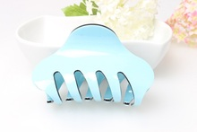 6 colors High-quality brand Hair Clip fashion Acrylic Hair Claw Candy colors hair accessories for women simple hair crab clamp(China (Mainland))