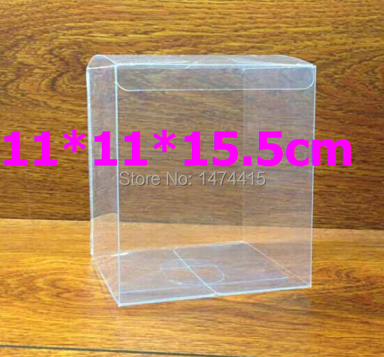 11*11*15.5 cm pvc toy box plastic folding perfume box , toy package plastic transparent chocolate box Free shipping(China (Mainland))