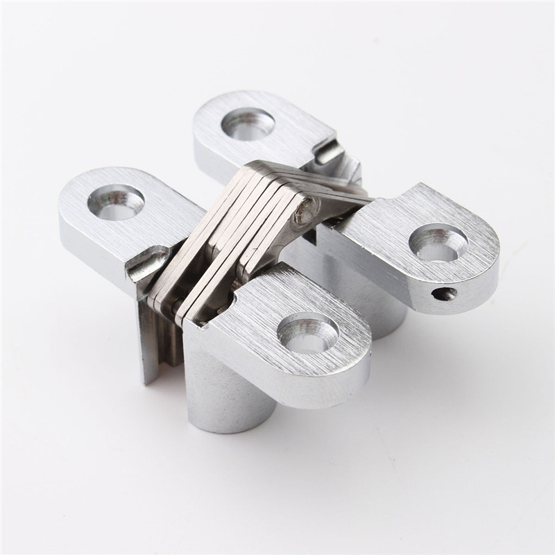 304 Stainless Steel Hidden Hinges 13x45MM Invisible Concealed Door Hinge Bearing 20KG With Screw For Folding Door(China (Mainland))