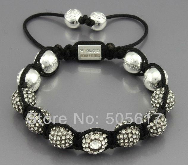 Shamballa Victoria style jewelry top,free shipping,New Shamballa Bracelet Made in Hollywood,CZ crystal Bead N-YB393(China (Mainland))