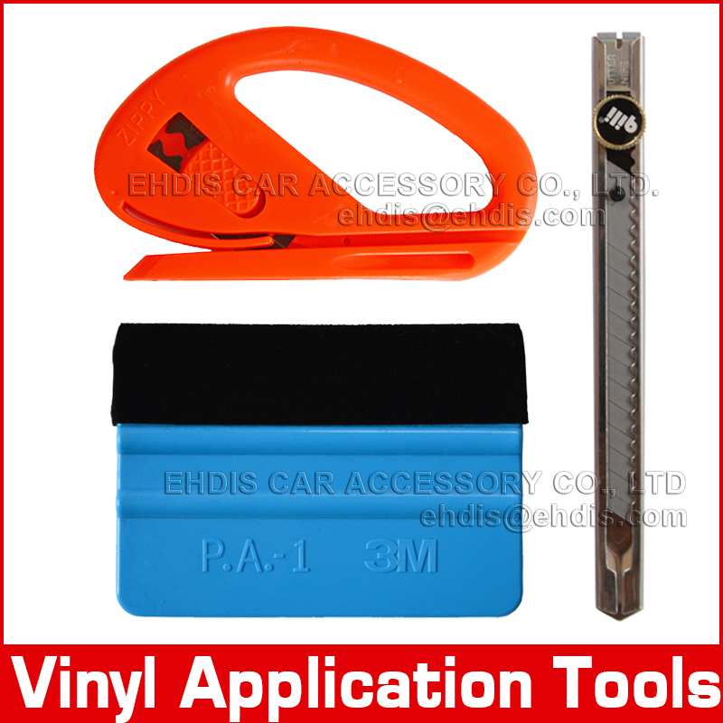 Carbon fiber car sticker installing application tools car styling tools 3m felt squeegee and vinyl cutting tools(China (Mainland))