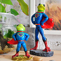 New Superman styling Frog Resin Crafts Creative Animal Toys For Kids Gift Novelty Figurine Home Decoration