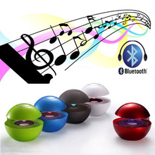 2017 New LED MINI Touch-sensitive USB Globular Wireless Bluetooth Portable Speaker 5 Colors Options(China (Mainland))